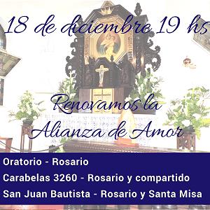 18 de Diciembre – nos consagramos a María en Montevideo