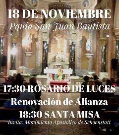 18 de noviembre – nos consagramos a María en San Juan Bautista – Pocitos