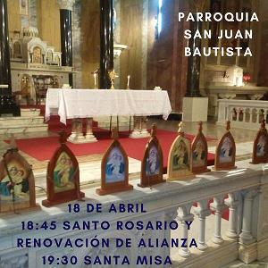 Nos consagramos a María -18 de abril de 2018