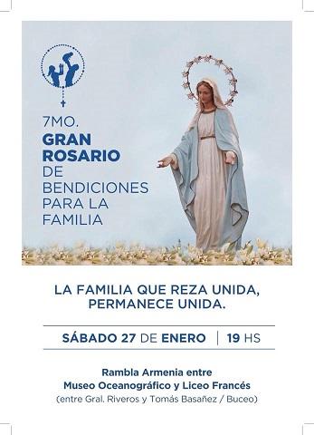 Rosario de la Familia en la Rambla de Montevideo – 27 de enero a las 19 horas