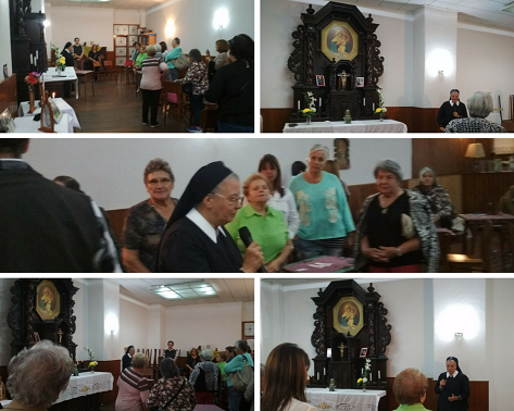Charla de la Hna. Mariela en la Parroquia de Lourdes