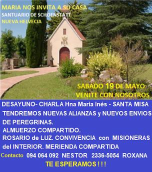 Peregrinación al Santuario de Nueva Helvecia – 19 de mayo de 2018