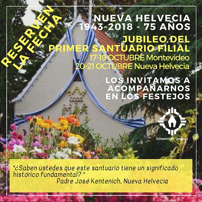 75 Aniversario del Santuario de Nueva Helvecia – Colonia – Uruguay