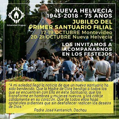 Jubileo del Primer Santuario Filial – Nueva Helvecia y Montevideo – Uruguay