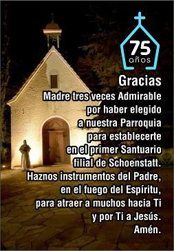 15 de setiembre en el Santuario de Nueva Helvecia – Colonia – Uruguay