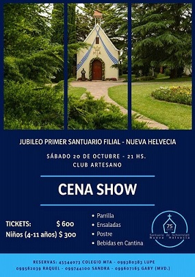 Cena 75 años del Santuario de Nueva Helvecia – Uruguay
