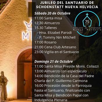 Festejo  75 años del santuario de Nueva Helvecia – Uruguay