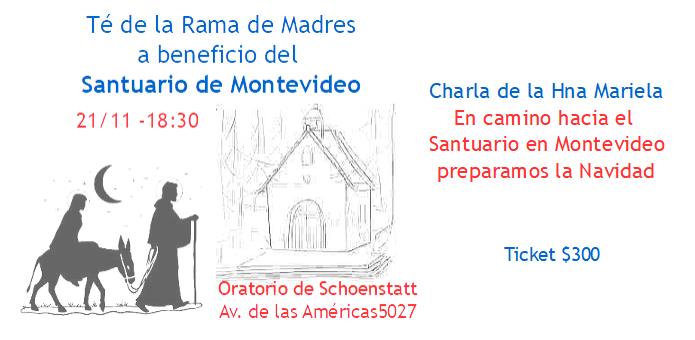 Te de la Rama de Madres a beneficio del futuro Santuario de Montevideo